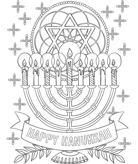 Tactueux image throughout hanukkah coloring pages printable
