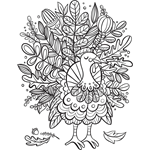 turkey foliage - Intricate Coloring Pages