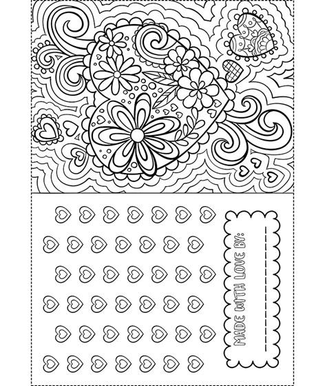 Valentine Card Coloring Page crayola