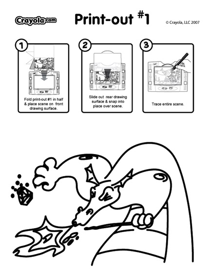 Dragon Sneeze coloring page