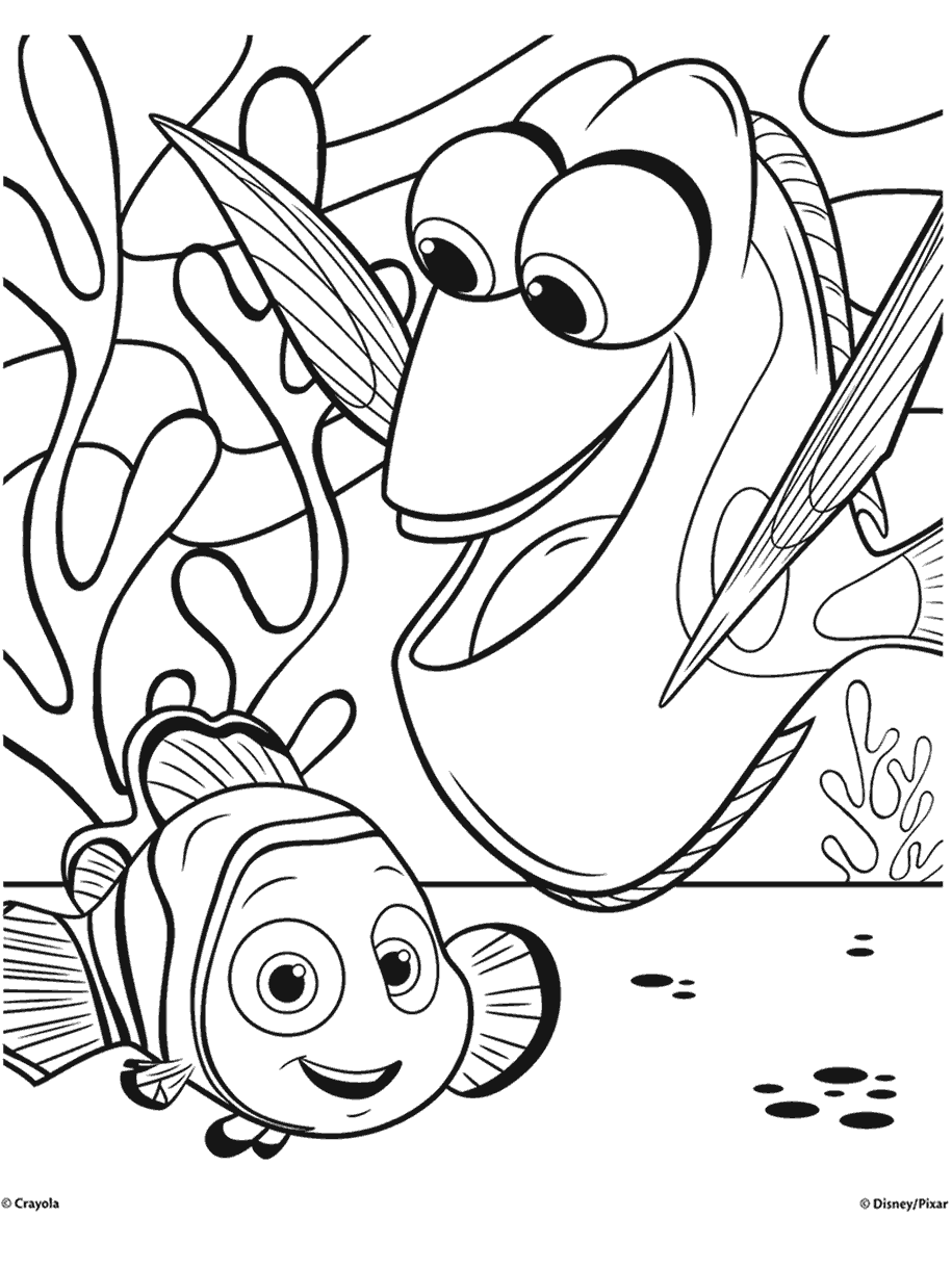 finding nemo printable coloring pages nemo printable coloring