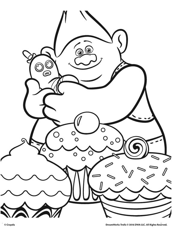 Trolls Biggie And Mr Dinkles Coloring Page