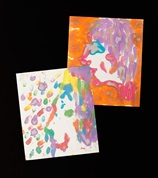 Fingerpaint Silhouettes craft