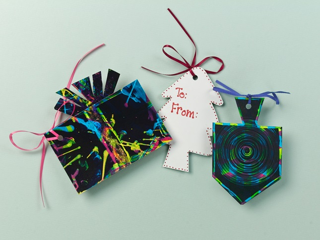 Terrific 'Tie-Dyed' Gift Tags craft