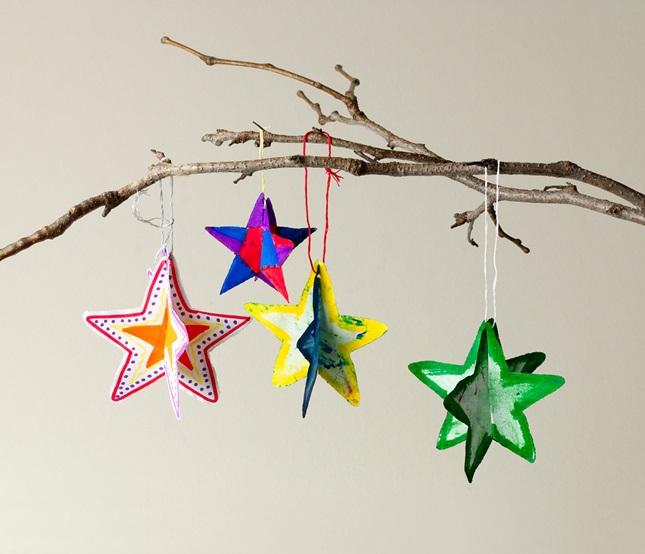 Paper Shape 3 d paper shape ornaments craft crayola com