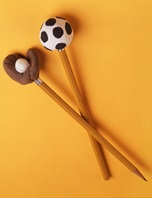 Sport-Ball Pencil Toppers craft