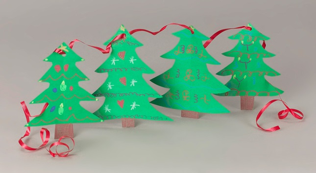 Christmas Tree Garland craft
