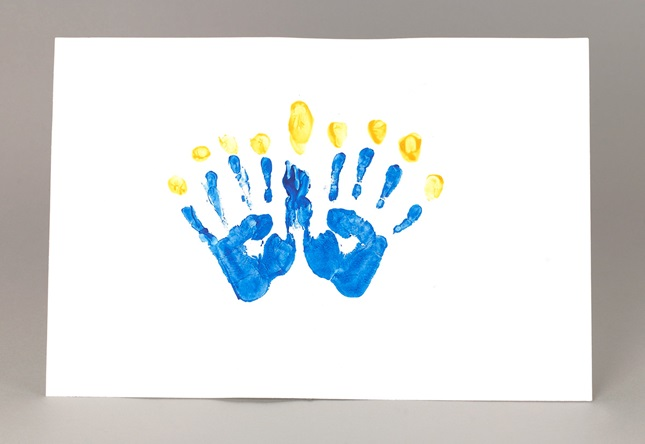 Chanukah handprint menorah craft for Menorah arts and crafts