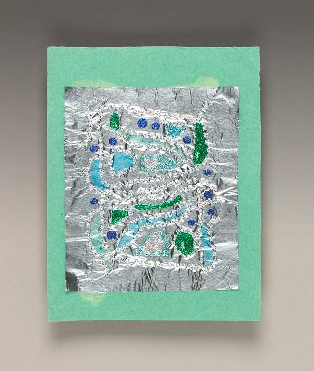 glittering foil craft crayola