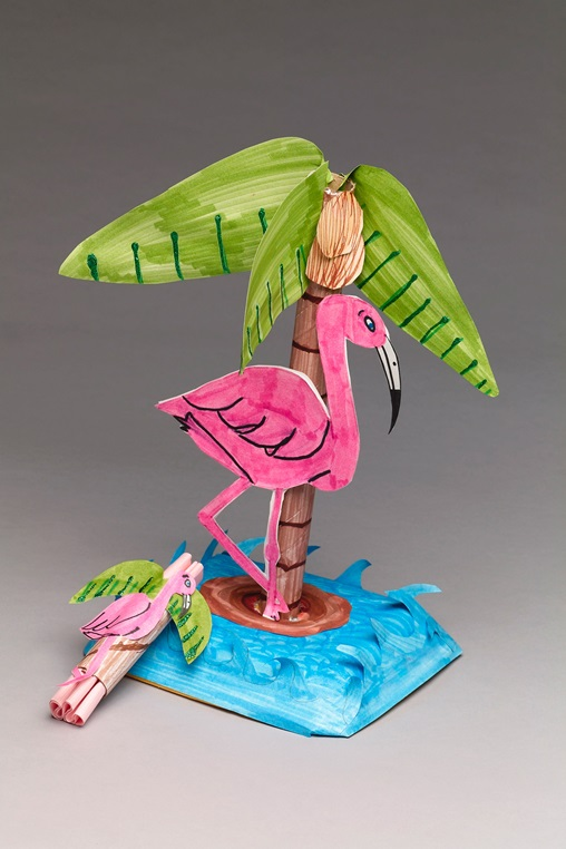 Pink Flamingo Party craft