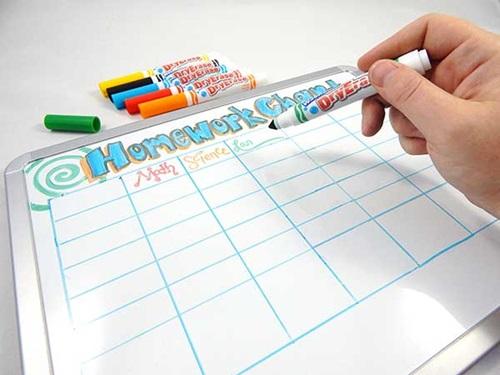 Dry Erase Homework Chart Craft   crayola com Crayola homework chart