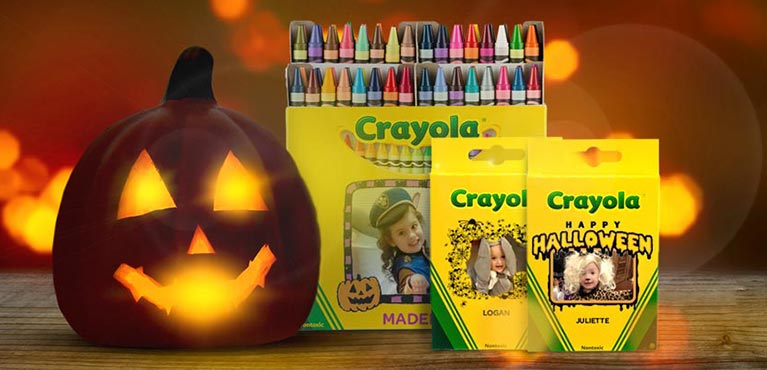 Halloween-themed Custom Crayon Boxes