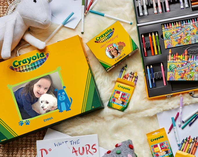 Variety of Crayola Customized products