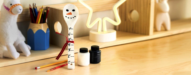 Crayola Wooden Spoon Ruler Craft