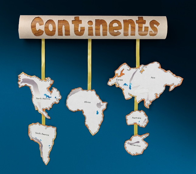 Cut Out Continents Mobile Crayola Com