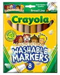 8 ct. Crayola Multicultural Broad Line Washable Markers
