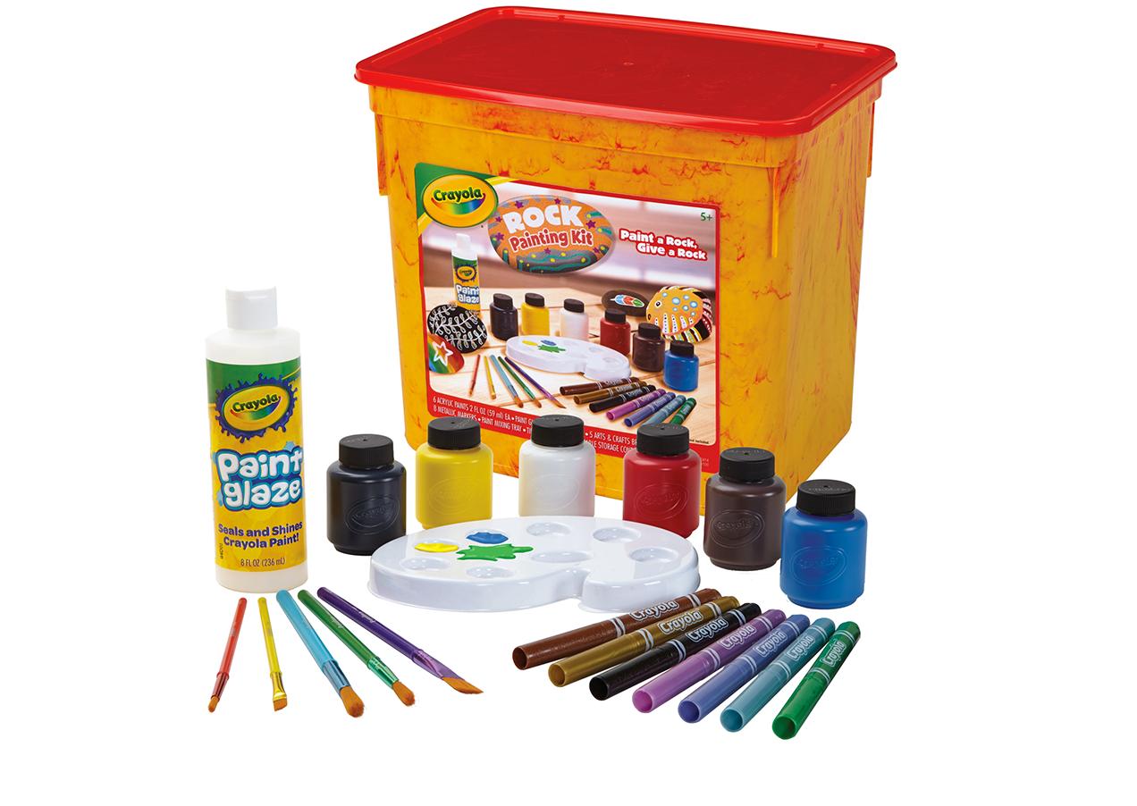 Rock painting kit crayola crayola crayola rock painting kit includes sciox Gallery