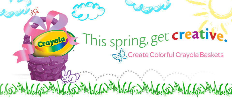 This spring, get creative. Create Colorful Crayola Baskets