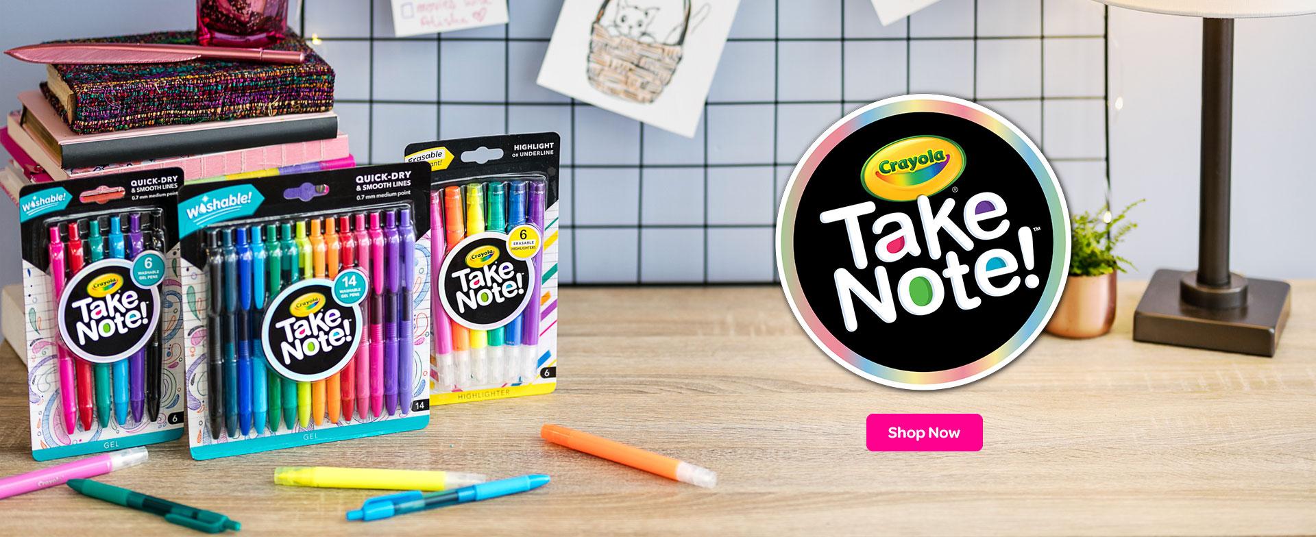 Take Note Writing Supplies crayola