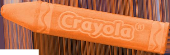 Crayola Orange Chalk Stick